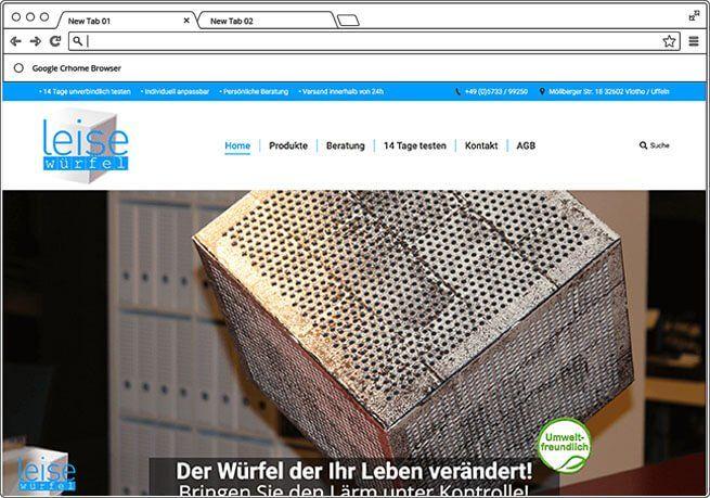 Navaro Design Webdesign Referenz Leise Wuerfel
